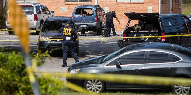 ANTIOCH, TN - SEPTEMBER 24: Police investigate a suspicious car in the parking lot of the Burnette Chapel...