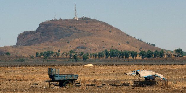 A herd of sheep is seen near the border between Syria and the Israeli-occupied Golan Heights in Quneitra,...