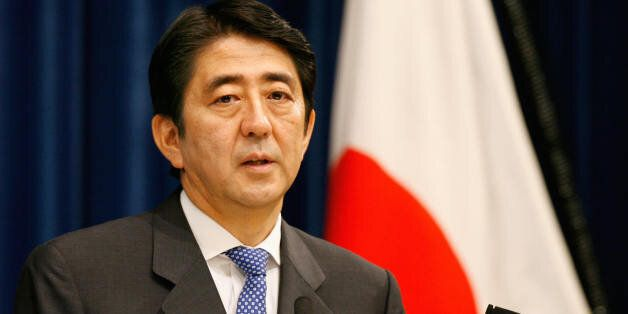 Japanese Prime Mininster Sinzo Abe answers questions during a press conference at his official residence...
