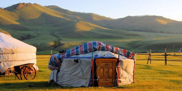 A Yurt in the Mongolian