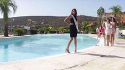 Η αμήχανη στιγμή της Ισπανίδας υποψήφιας Μις Κόσμος κατά τη διάρκεια της