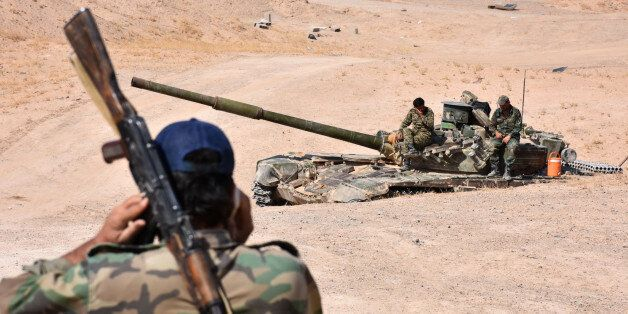 Syria forces begin their advance on the area of Bughayliyah, on the northern outskirts of Deir Ezzor...