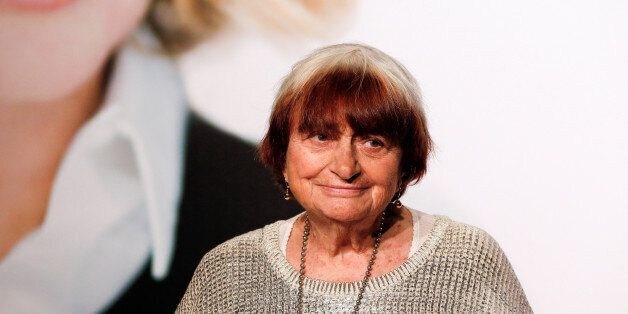 French director Agnes Varda attends the opening day of the Lumiere Festival in Lyon, France, October...