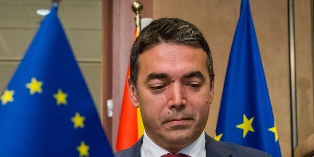 Nikola Dimitrov, Foreign Minister of Macedonia arrives for the Stabilisation and Association Council...