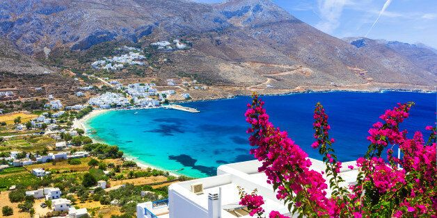 Beautiful Aegialis bay,Amorgos,Greece.