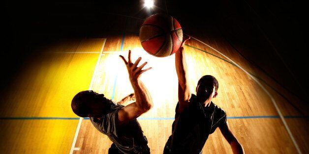 Basketball jump - dark