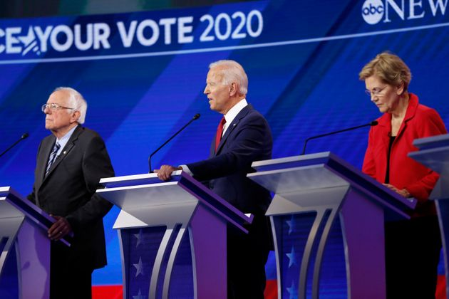 Progressive activists agree that either Warren, right, or Sanders, left, would be a better Democratic...
