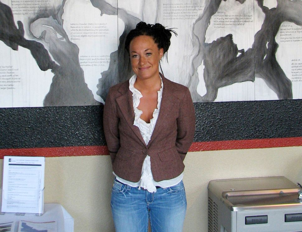 This July 24, 2009, file photo shows Rachel Dolezal, who made headlines for saying she was Black, even though she had been bo