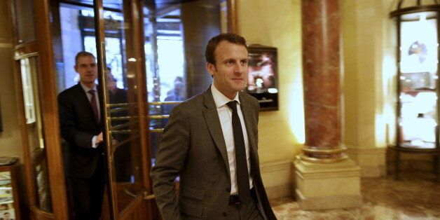 French Economy Minister Emmanuel Macron arrives for a conference in Madrid, Spain, July 10, 2015. Greece's...