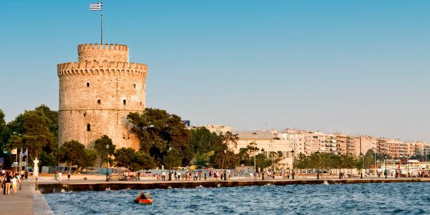 The white tower at Thessaloniki city in