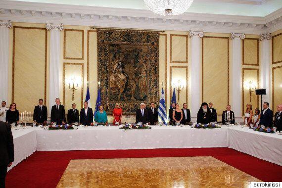 Επίσημο δείπνο προς τιμήν του Μακρόν στον Προεδρικό