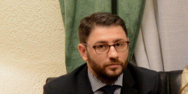 GREEK PARLIAMENT, ATHENS, ATTIKI, GREECE - 2016/02/26: From the left: Deputy of European Parliament of...