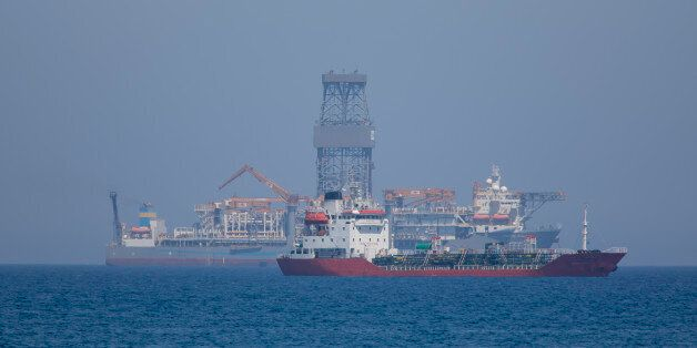 LIMASSOL, CYPRUS - JULY 12: The drillship Pacific Khamsin on July 12, 2017 in Limassol, Cyprus.Total...