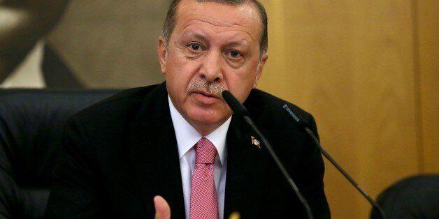 ISTANBUL, TURKEY - SEPTEMBER 08: President of Turkey, Recep Tayyip Erdogan holds a press conference ahead...