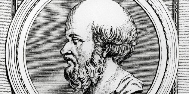 UNSPECIFIED - MAY 25: Portrait of Eratosthenes of Cyrene (Cyrene, 275 BC-Alexandria, 195 BC), Greek mathematician,...