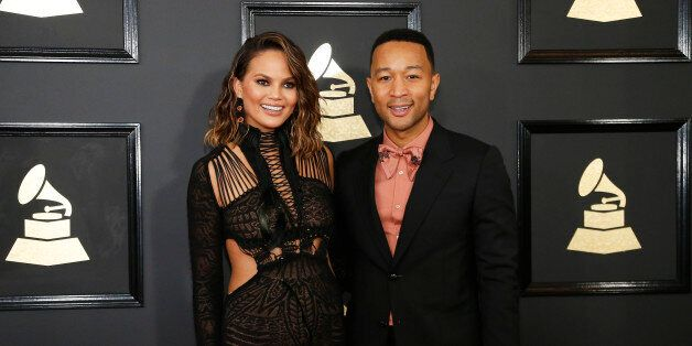 Model Chrissy Teigen and musician John Legend arrive at the 59th Annual Grammy Awards in Los Angeles, California, U.S. , February 12, 2017. REUTERS/Mario Anzuoni