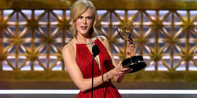 LOS ANGELES, CA - SEPTEMBER 17: Actor Nicole Kidman accepts Outstanding Lead Actress in a Limited Series...