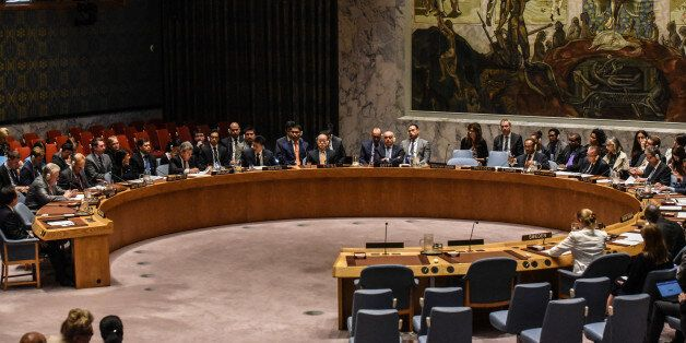 NEW YORK, NY - SEPTEMBER 4: The United Nations Security Council holds a meeting on North Korea on September...