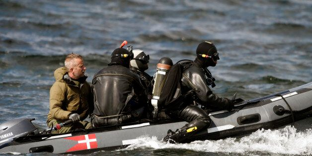 Divers from the Danish Defence Command preparing for a dive in Koge Bugt near Amager in Copenhagen on...