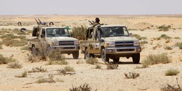 Libya forces allied with the UN-backed government patrol to prevent Islamic State resurgence on the outskirts...