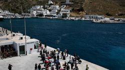 Εικόνες από το Blue Star Patmos που προσάραξε τα ξημερώματα ανοιχτά της