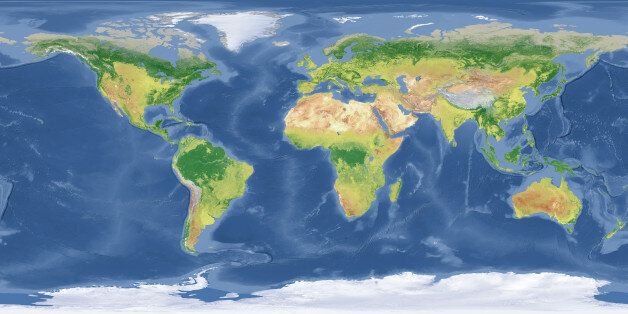 'High quality surface map, natural colors, clouds cover.Clouds map comes from earthobservatory/nasa.The...