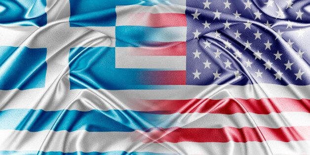 USA and Greece. Relations between two countries. Conceptual