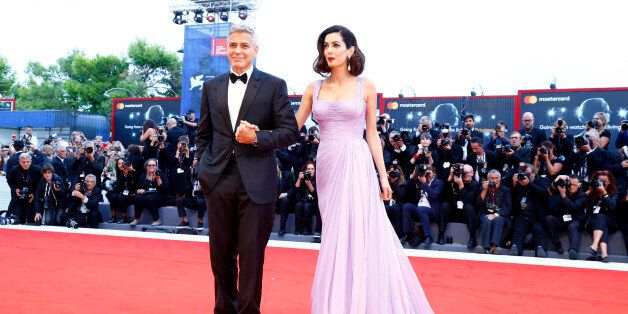 VENICE, ITALY - SEPTEMBER 02: George Clooney and his wife Amal arrive at the 'Suburbicon' premiere during the 74th Venice Film Festival on September 2, 2017 in Venice, Italy.   PHOTOGRAPH BY P. Lehman / Barcroft ImagesLondon-T:+44 207 033 1031 E:hello@barcroftmedia.com -New York-T:+1 212 796 2458 E:hello@barcroftusa.com -New Delhi-T:+91 11 4053 2429 E:hello@barcroftindia.com www.barcroftimages.com (Photo credit should read P. Lehman / Barcroft Images / Barcroft Media via Getty Images)