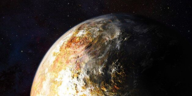 Artist's conception of clouds in Pluto's atmosphere. (Photo by: Universal History Archive/UIG via Getty