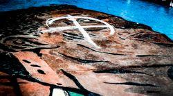 Χρυσαυγίτες βανδάλισαν το γκράφιτι για τον Αντετοκούμπο στα