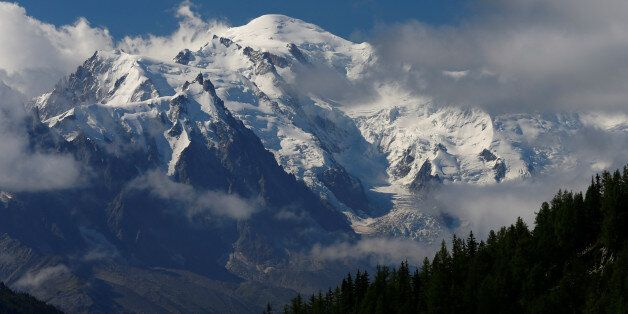 The Mont-Blanc mountain and summit are seen from Emosson, Switzerland August 9, 2017. REUTERS/Denis