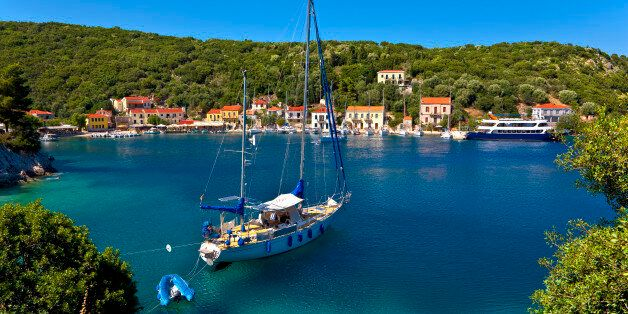 Greece. Ionian Islands - Ithaca. Lovely settlement of