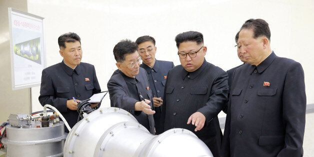 This undated picture released by North Korea's official Korean Central News Agency (KCNA) on September...