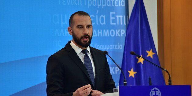 GENERAL PRESS SECRETARY, ATHENS, ATTIKI, GREECE - 2017/02/07: Dimitris Tzanakopoulos, Greek Minister...