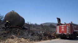 Αντιμετωπίστηκε η αναζωπύρωση της πυρκαγιάς στα