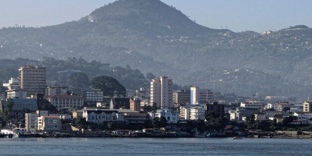 freetown the harbour of siera leone ,