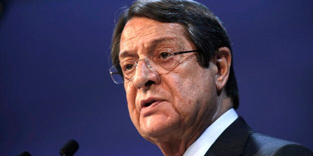 Cyprus' President Nikos Anastasiadis takes part in a European People Party (EPP) summit in St Julian's,...