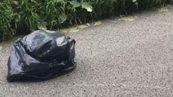 Βίντεο: Μια μαύρη σακούλα σκουπιδιών στη μέση του δρόμου έκρυβε αυτό που δεν περίμενε να