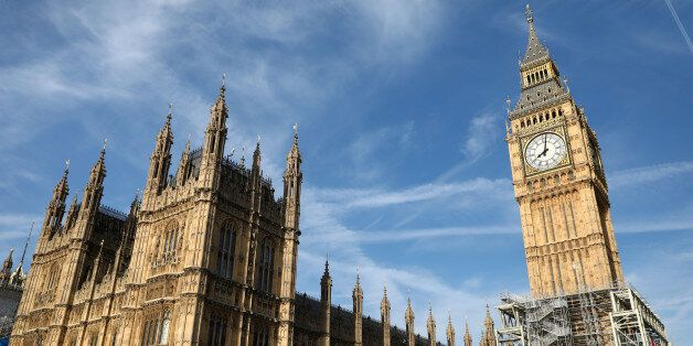 The Elizabeth Tower, which houses the Great Clock and the 'Big Ben' bell, is seen above the Houses of...