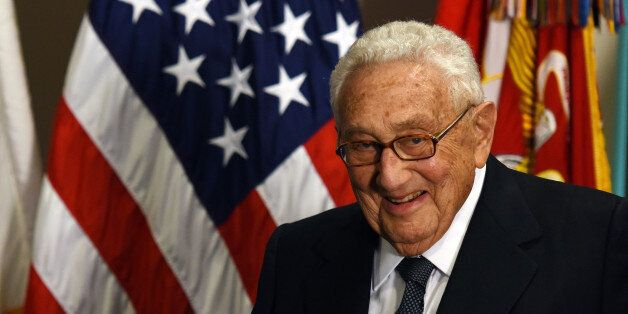 WASHINGTON D.C., May 10, 2016 -- Former U.S. Secretary of State Henry Kissinger is seen at an award ceremony...