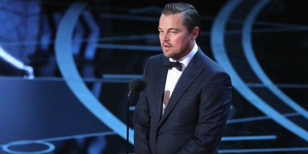 89th Academy Awards - Oscars Awards Show - Hollywood, California, U.S. - 26/02/17 - Leonardo DiCaprio presents Best Actress. REUTERS/Lucy Nicholson