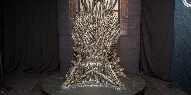 SAN DIEGO, CA - JULY 23: The Iron Throne display at the Hall of Faces presented by the HBO hit series...