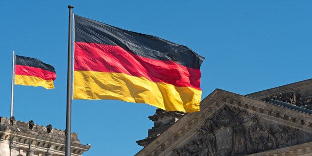 two Germany flags on top of the