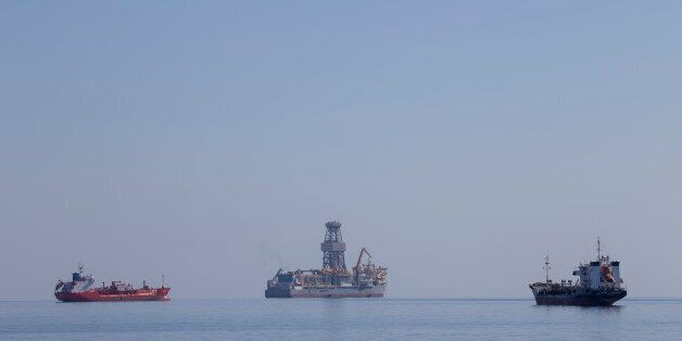 LIMASSOL, CYPRUS - NOVEMBER 04: The drillship Pacific Khamsin on November 04, 2016 in Limassol, Cyprus.Total...