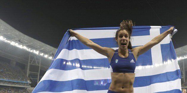 Το χρυσό μετάλλιο κέρδισε στο επί κοντώ η Κατερίνα Στεφανίδη στο Παγκόσμιο Πρωτάθλημα Στίβου στο