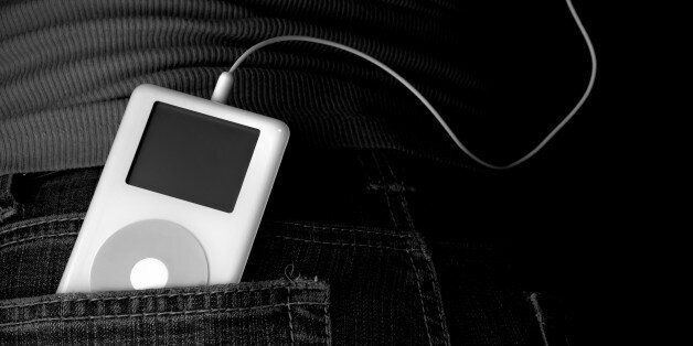 Classic 2nd generation iPod in back jean pocket