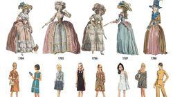 Η θεαματική αλλαγή της γυναικείας μόδας μέσα σε 200 χρόνια, από μια σειρά υπέροχων