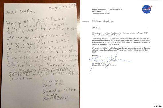 Ένας 9χρονος έστειλε αίτηση εργασίας στη NASA για «Φύλακας του Γαλαξία». Και η NASA, φυσικά, του
