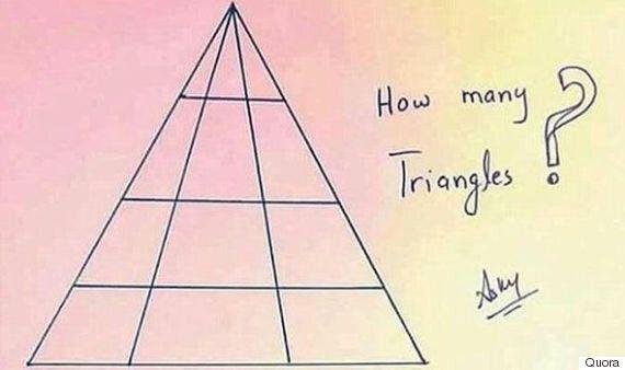 Εσείς μπορείτε να βρείτε πόσα τρίγωνα υπάρχουν στη
