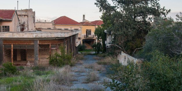 FAMAGUSTA, CYPRUS - JANUARY 05: Nature covers the abandoned houses of the Varosha quarter on January...
